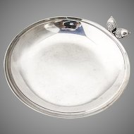 Acorn Decorated Serving Bowl Sterling Silver Shreve and Co San Francisco