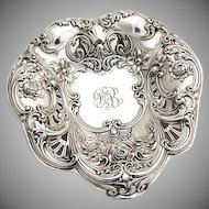 Large Heart Serving Dish Sterling Silver Gorham Silversmiths 1906