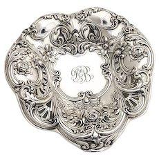 Large Heart Serving Dish Sterling Silver Gorham Silversmiths 1906