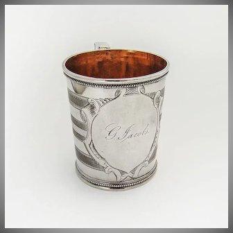 Christening Cup Coin Silver San Francisco CA Frederick R Rickel 1860
