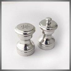 Pepper Grinder Salt Shaker Sterling Silver Wooden Liner