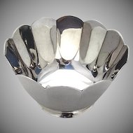 Tiffany and Co Scalloped Edge Serving Bowl Sterling Silver Mid Century