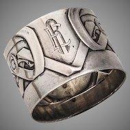 Napkin Ring Jugendstil 800 Silver Germany 1910