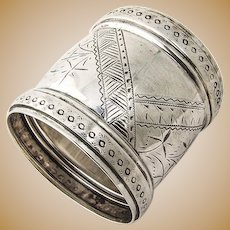 Coin Silver Napkin Ring Coin Silver Wood and Hughes 1880