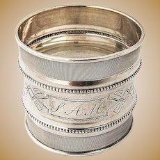 Aesthetic Coin Silver Napkin Ring 1880