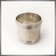 Barrel Form Napkin Ring Coin Silver 1880