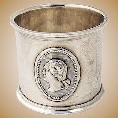 George Washington Medallion Napkin Ring Coin Silver 1880