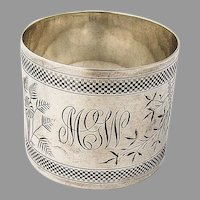 Aesthetic Style Napkin Ring Coin Silver 1880