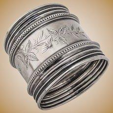 Aesthetic Napkin Ring Coin Silver 1870