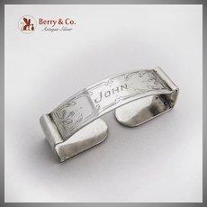 Rectangular Napkin Ring Sterling Silver 1920