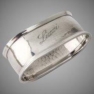 Oval Napkin Ring 835 Standard Silver 1920