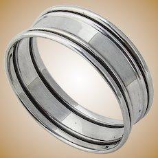 Narrow Napkin Ring Sterling Silver Webster 1940