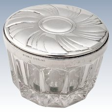 Dresser Jar Hand Mirror Round Lid Sterling Silver Towle