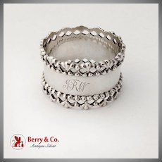 Napkin Ring Open Work Borders Sterling Silver Towle 1900
