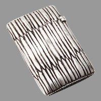 Match Box Vesta 950 French Sterling Silver 1890