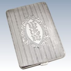 Compact Change Purse Sterling Silver Elgin Mfg