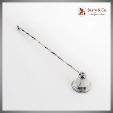 Candle Snuffer Twist Handle Sterling Silver