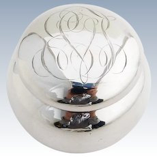Round Dresser Jar Sterling Silver Howard 1900