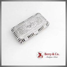 French Cigar Case Sterling Silver 1840-1860