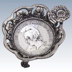 Individual Ash Tray Coin Silver 2000 Reis 1908