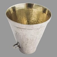 Beaker Hammered Sterling Silver Zolotas Greece