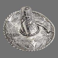 Sombrero Hat Figural Sterling Silver Mexico 1970