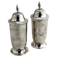 Salt and Pepper Shaker Sterling Silver Frank Smith