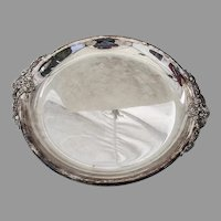 Baroque Barbeque Dish Silverplate Wallace Silver Co