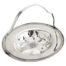 Swing Handle Basket Sterling Silver International Silver Co