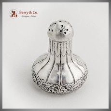 Ornate Small Shaker Sterling Silver Gorham 1887