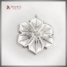 Christmas Ornament Snowflake Gorham Sterling Silver 1992