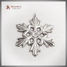 Christmas Ornament Snowflake Gorham Sterling Silver 1990