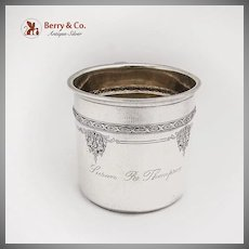 Baby Christening Cup Louis XIV Sterling Silver Towle 1919