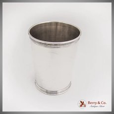 Vintage Banded Julep Cup Manchester Silver Co Sterling Silver No Mono