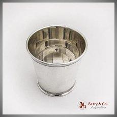 Vintage Banded Julep Cup Baldwin and Miller Sterling Silver 1950