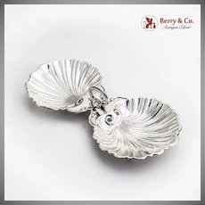Double Sectional Shell Dish Sterling Silver