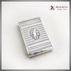 Cherub Box Cutwork Hinged Lid Austrian 1870 800 Silver