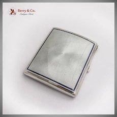 Cigarette Case Guilloche Enamel 900 Silver 1920