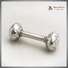 Baby Rattle Barbell Sterling Silver Navajo