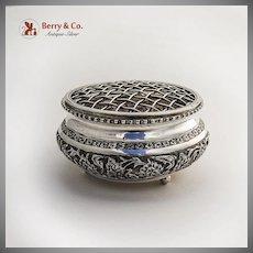 Persian Repousse Centerpiece Flower Bowl 900 Silver