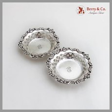 Nut Dishes 2 Ornate Sterling Silver Wallace