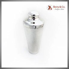 Cocktail Shaker Bar Accessories Sterling Silver