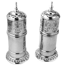 Salt and Pepper Shakers Sterling Silver Lunt
