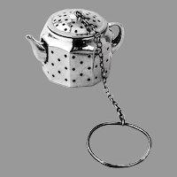 Tea Ball Teapot Form Amcraft Sterling Silver