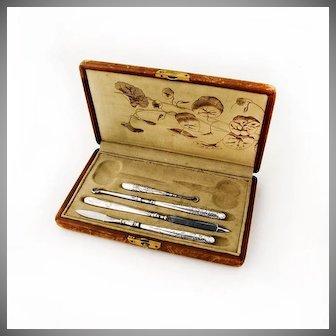 Grooming Set Acid Etched Design Gorham Sterling Silver