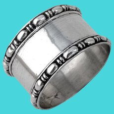 Tiffany Marquise Napkin Ring Sterling Silver