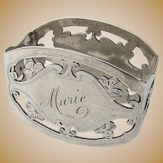Ornate Open Work Napkin Ring Whiting Sterling Silver
