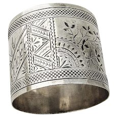 Aesthetic Napkin Ring Coin Silver 1870