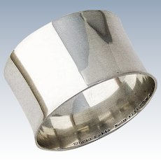 Tiffany and Co Napkin Ring Large Plain Sterling Silver