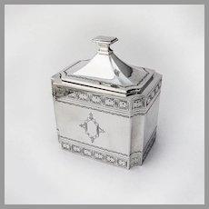 Rectangular Tea caddy 835 Silver Hungary 1930